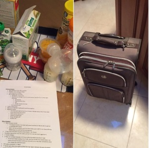 Me leaving for my trip vs. How a dad would prepare
