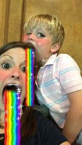"He said he wanted to ""barf a rainbow on my head""."