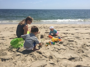 Any friend that helps you wrangle two kids at the beach is one worth keeping. Forever.