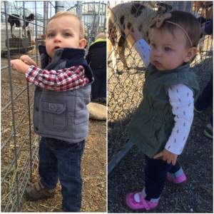 Siblings much? They even share the same love of a good fall vest