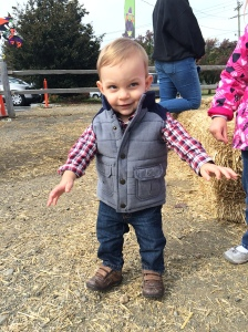 Nailing farm chic at 1 year old