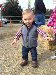 Nailing farm chic at 1 year old